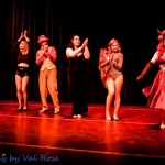 Full cast of the Hundred Watt club burlesque show at the Electric Theatre in Guildford, England.