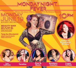 Monday Night Fever Disco Burlesque @ The Beauty Bar  | New York | New York | United States
