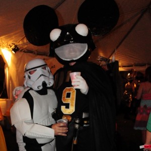 Darth Maus and Storm Trooper costumes at Mardi Gras Mom's Ball, New Orleans