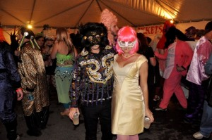 Masked guests at Mardi Gras Mom's Ball, New Orleans