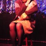Amelia Bareparts burlesque as David Lynch's Twin Peaks Log Lady
