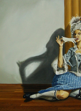 Bea B Heart 26 x 42 inches Oil on Canvas