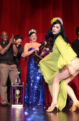 Miss Indigo Blue, Crowned Queen, Burlesque Hall of Fame 2011. Photo by Don Spiro.