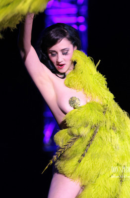 Miss Indigo Blue, Reigning Queen of Burlesque, Burlesque Hall of Fame 2011. Photo by Don Spiro.
