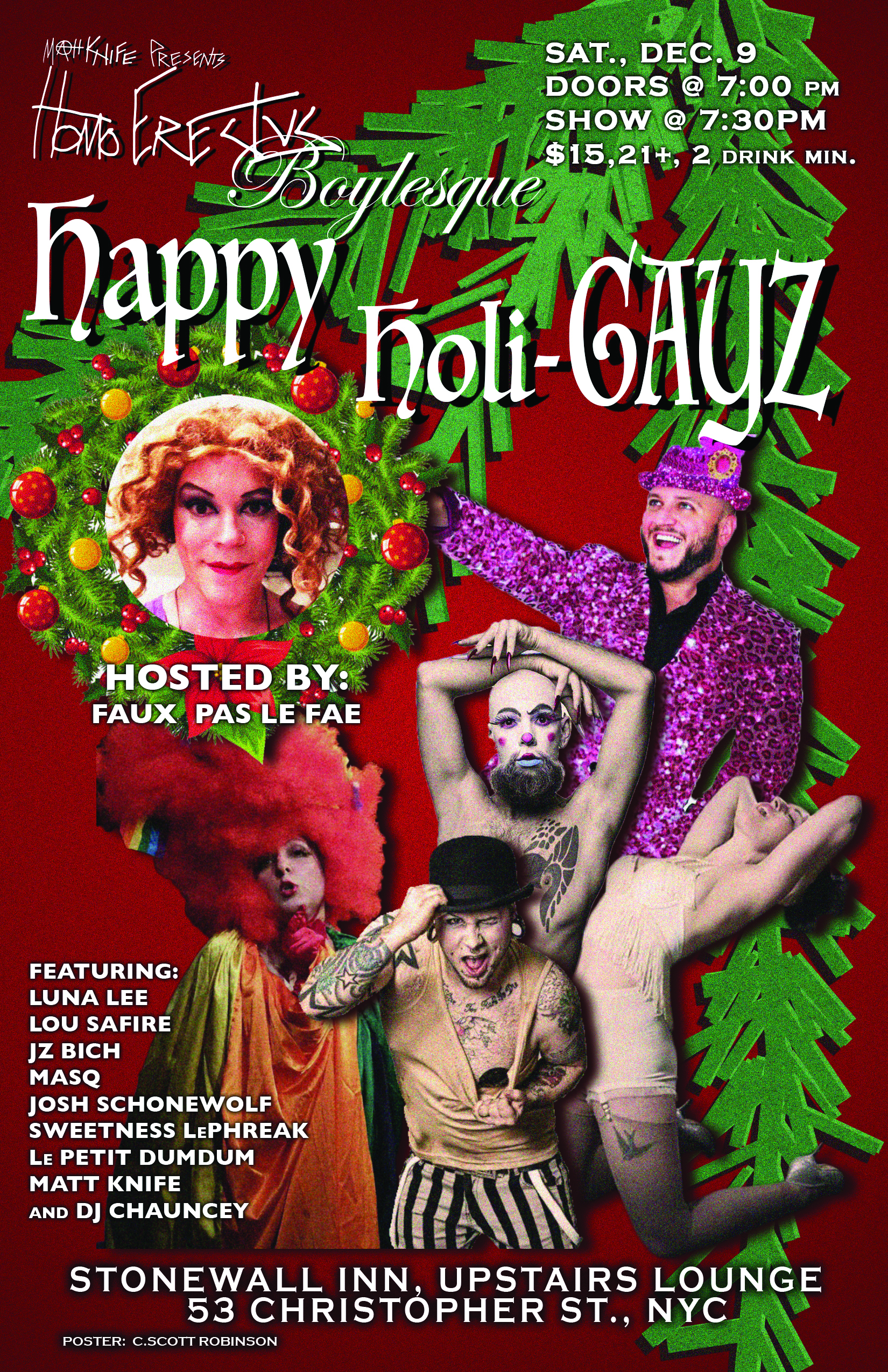 Homo Erectus Boylesque: Happy Holi-GAYZ @ Stonewall Inn   New York   New York   United States