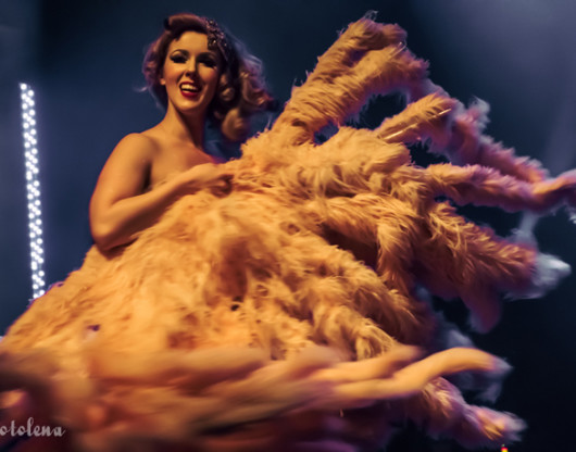 Agatha Frisky performing at the Toronto burlesque show Girlesque 2015, the Saturday late show.