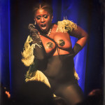Akynos performing at the 2014 New York Burlesque Festval