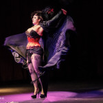 Amber Ray performing at the 2014 New York Burlesque Festival Golden Pastie awards burlesque show