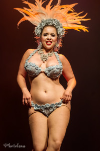 Amber Ray performing at the 2014 Toronto Burlesque Festival