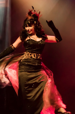 Angie Pontani performing at the Toronto burlesque festival show, Girlesque 2015, the Sunday show.
