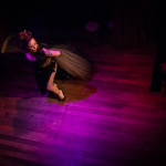 Angie Pontani performing at Bedroom Burlesque: A Penthouse Forum Release Party With The New York School of Burlesque
