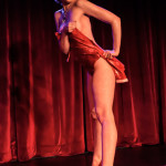 Anna Evans performing at the 2014 New York Burlesque Festival