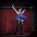 Anna Lou Larkin performing at Cabaret Roulette in London