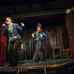 Anna Lou Larkin and Lou Safire performing at Cabaret Roulette in London