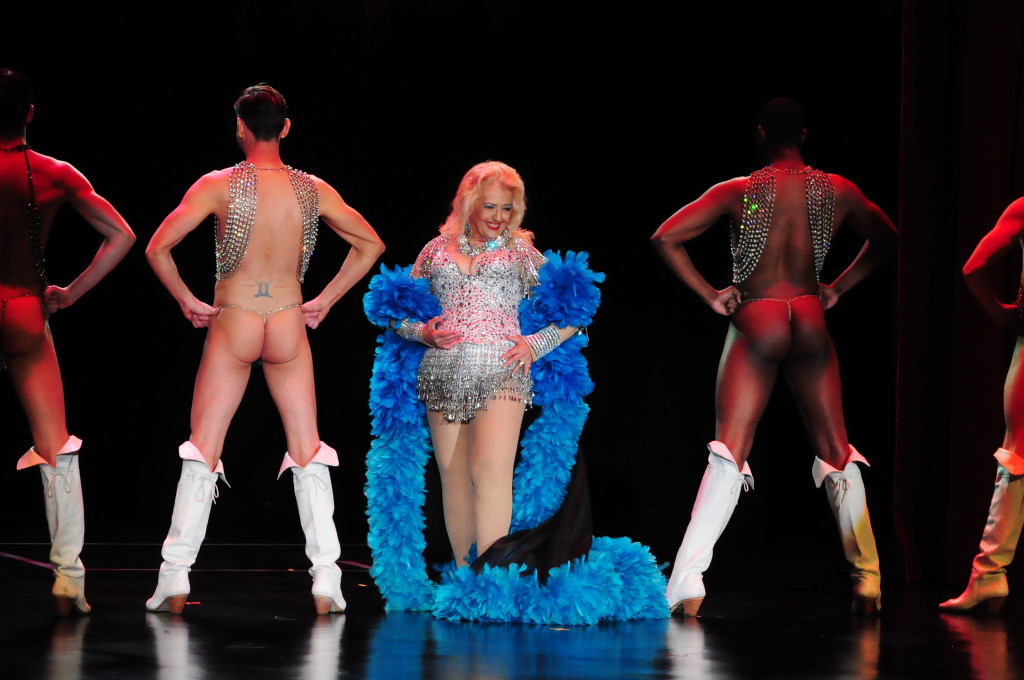 April March, First Lady of Burlesque, performing at Burlesque Hall of Fame 2015 Titans of Tease Reunion Showcase