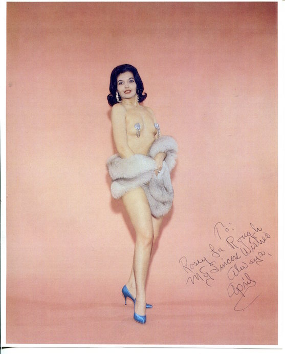 Promo Shot of burlesque legend April March from 1964