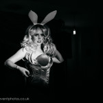 Athena Beauvoir performing at London burlesque show, Burlesque in Underland.