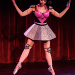 Aurora Black performing at the 2014 New York Burlesque Festival