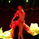 Aurora Black performing at the New York Burlesque Festival 2015 Friday night premiere party at Brooklyn Bowl.