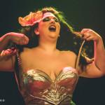 Ava Noir performing at the Toronto Burlesque Festival Teaser show, Bombshell