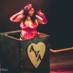 Ava Noir performing at the 2015 Toronto Burlesque Festival opening night show, The Lost Toys.