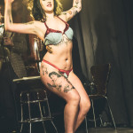 Aviva performing at Skin Tight Outta Sight Rebel Burlesque's 2017 Voulez-Vous Valentine show at Revival bar in Toronto.