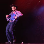 Chris Harder performing at Burlesque Hall of Fame 2017 Miss Exotic World Saturday night Tournament of Tease in Las Vegas.