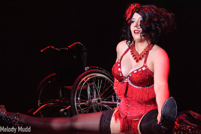 Jacqueline Boxx competing for best debut category at Burlesque Hall of Fame 2017.