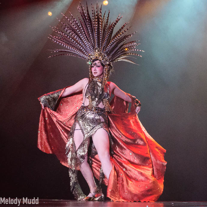 Musette The Mistress of Mischief competing for best debut category at Burlesque Hall of Fame 2017.