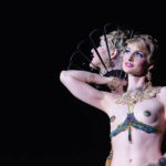 Lady Josephine performing at Burlesque Hall of Fame 2017 Miss Exotic World Saturday night Tournament of Tease in Las Vegas.