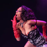 RedBone performing at Burlesque Hall of Fame 2017 Miss Exotic World Saturday night Tournament of Tease in Las Vegas.