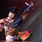 Sweetpea performing at Burlesque Hall of Fame 2017 Miss Exotic World Saturday night Tournament of Tease in Las Vegas.