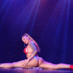 Sydni Deveraux performing at Burlesque Hall of Fame 2017 Miss Exotic World Saturday night Tournament of Tease in Las Vegas.