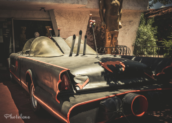 The Batmobile, discovered on the Burlesque Hall of Fame Weekend 2015 Pinup Photo Safari in Las Vegas, Nevada.