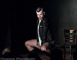 Beau Creep performing at the 2nd annual Seattle Boylesque Festival.