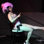 Beelzababe performing at the Hollaback Girls Benefit Burlesque Show