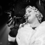 Belle Jumelles performing at the Bad Girls of History burlesque show in Toronto.