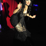 Besame Culo performing at New Orleans burlesque show Dirty Dime Peep Show at the Allways Lounge, January 1, 2015.