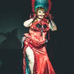 Bettie Blackheart performing at the New York Burlesque Festival 2015 Sunday night Golden Pasties awards show at Highline Ballroom.