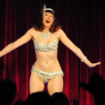 Bettina May performing at the 2016 New York Burlesque Festival Thursday night show at The Bell House.