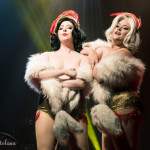 Betty Quirk and Dolly Monroe performing at the Toronto Burlesque Festival 2015 Glam-a-ganza show.