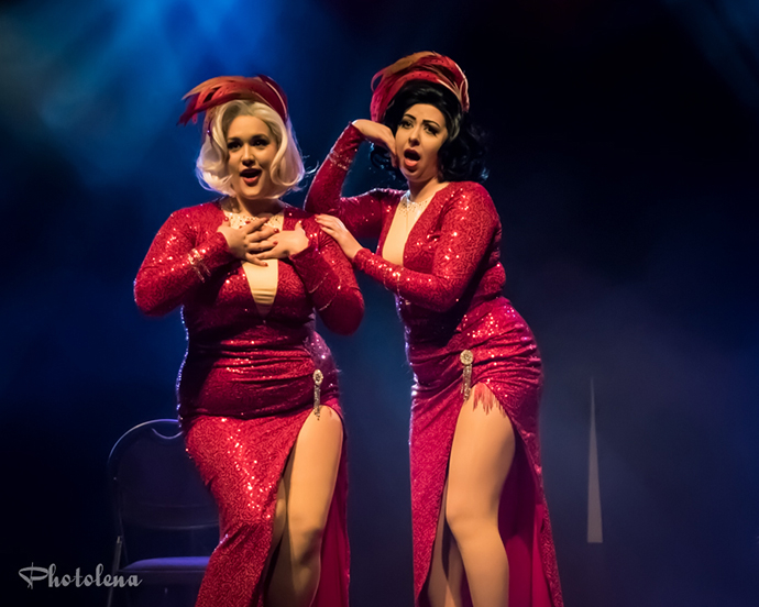 Betty Quirk & Dolly Monroe performing at the Toronto burlesque festival show, Girlesque 2015, the Sunday show.