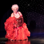 Big Fannie Annie onstage at the 2016 Burlesque Hall of Fame Friday Night Legends Reunion Showcase.
