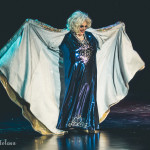 Big Fannie Annie onstage for the 2015 Burlesque Hall of Fame Weekend Legends of Burlesque Walk of Fame.