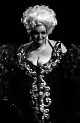 Big Fannie Annie onstage at the 2014 Burlesque Hall of Fame Burlesque Legends Walk of Fame