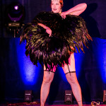 Blanche Boudoir performing at Vermont Burlesque Festival 2016 Saturday Night Extravaganza.