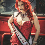 Blaze modeling for the Burlesque Hall of Fame Weekend 2015 Pinup Photo Safari in Las Vegas, Nevada.