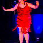Bobbi Pins performing at Vermont Burlesque Festival 2016 Saturday Night Extravaganza.