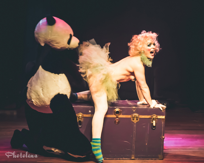 BonBon Bombay performing at the 2015 Toronto Burlesque Festival opening night show, The Lost Toys.