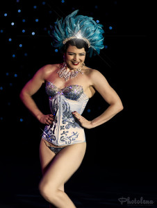 Bonnie Fox performing in the Burlesque Hall of Fame 2014 Tournament of Tease Debut Category